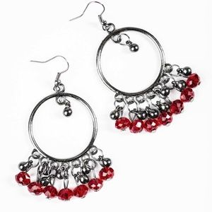 Twilight Zone - Red Earrings